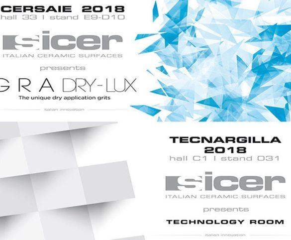 Sicer partecipa a CERSAIE 2018 E TECNARGILLA 2018